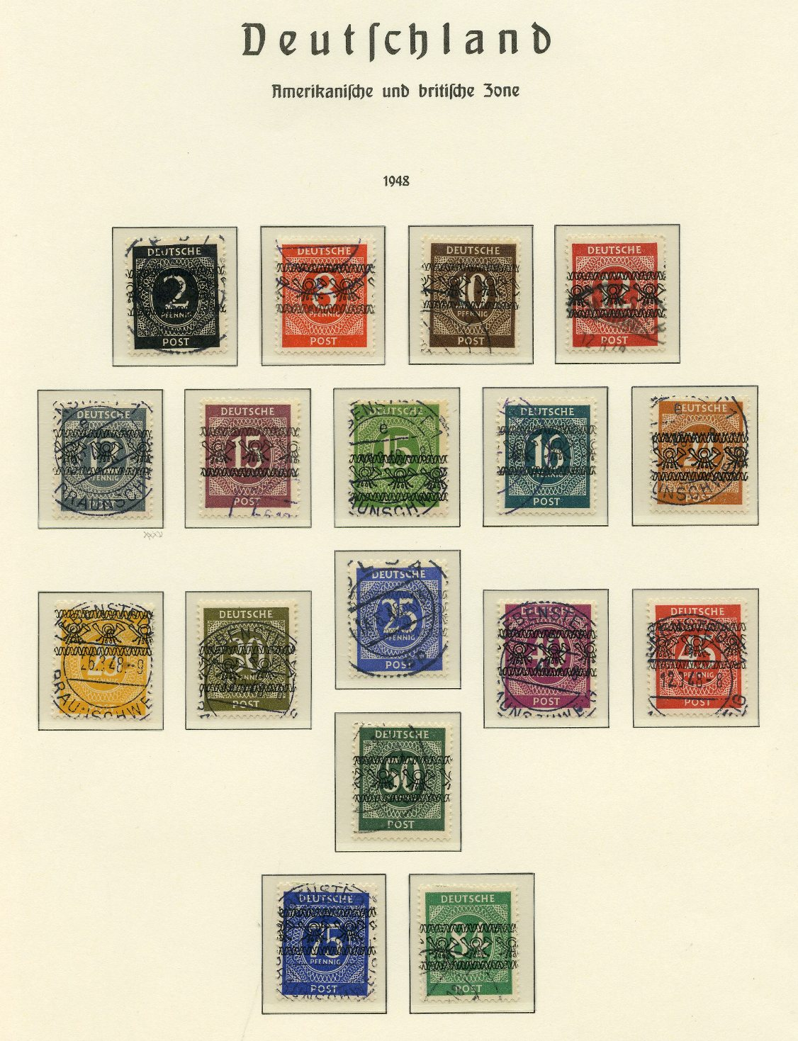 Lot 7 - GERMANY (see also #40/43)  -  Tel Aviv Stamps Ltd. Auction #46