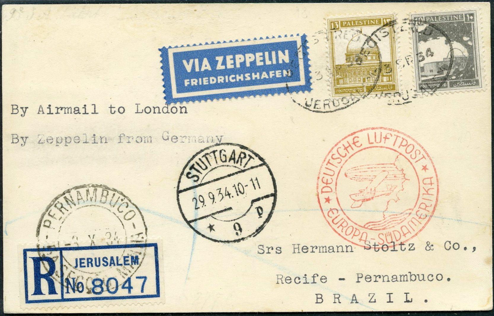 Lot 15 - MARITIME  &  ZEPPELIN  -  Tel Aviv Stamps Ltd. Auction #46