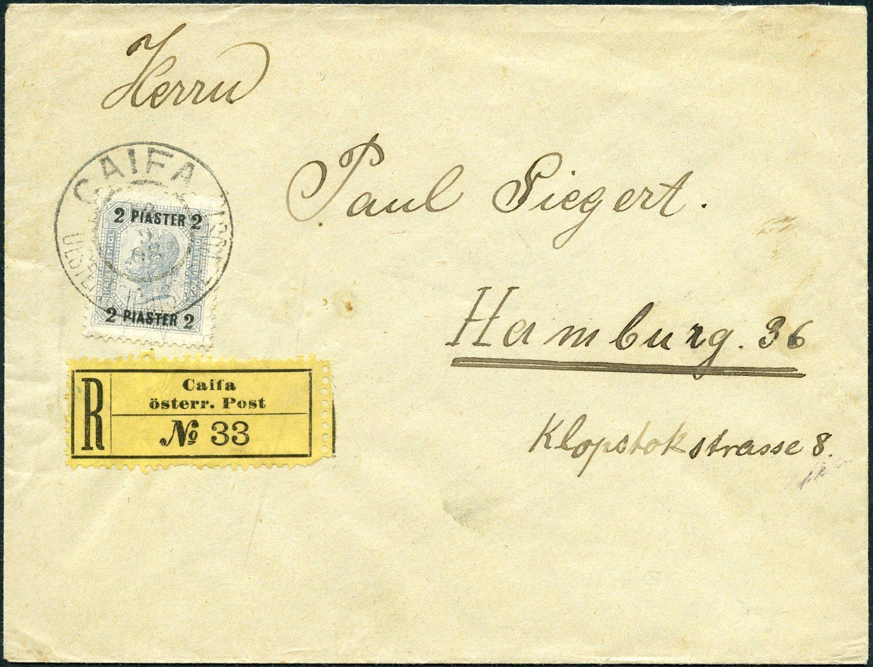 Lot 19 - THE AUSTRIAN POST  -  Tel Aviv Stamps Ltd. Auction #47