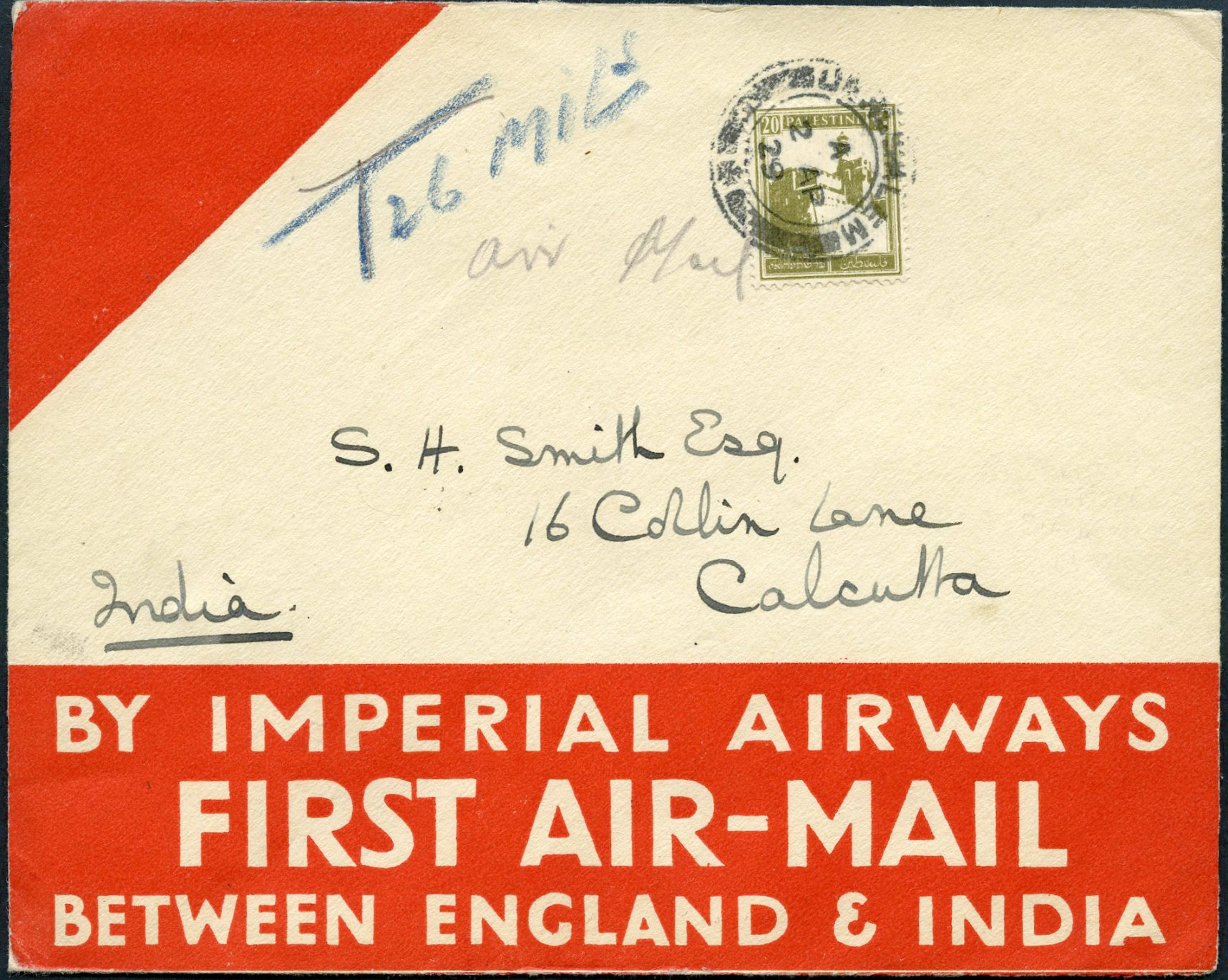 Lot 10 - AIR MAIL (Palestine related incl. Zeppelin)  -  Tel Aviv Stamps Ltd. Auction #50